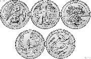 2020 National Park Quarters Complete Set Denver (D) Mint Uncirculated (5 Coins) AS, CT, VI, VT, KS