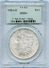 1884-O Morgan Silver Dollar - PCGS MS 64