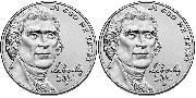 2021 P & D Jefferson Nickels Gem BU (Brilliant Uncirculated)