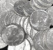 90% U.S. Silver Coins - 2 x 1964 Kennedy Half Dollars AU+/UNC - $1 Face Value Lots