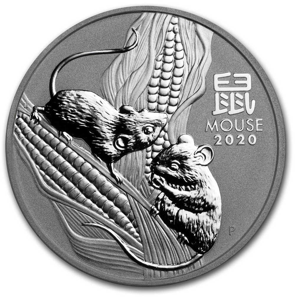 2020 Australian Year of the Mouse Silver Coin 1 oz .999 Lunar Series III