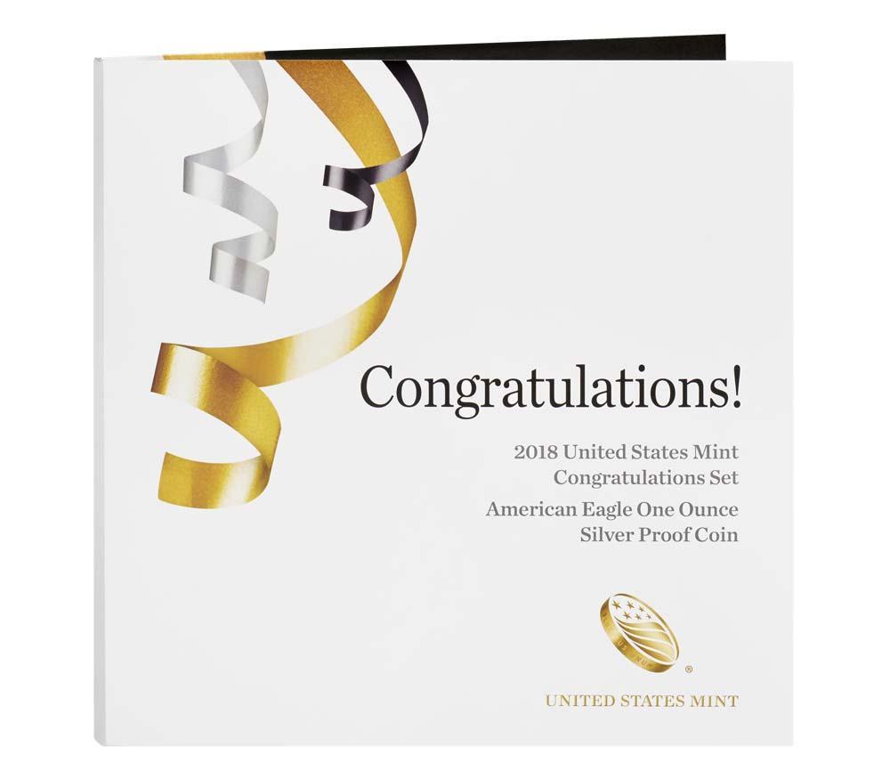 2018 Congratulations Set US Mint W Proof American Silver Eagle Dollar