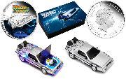 Back to the Future 2015 1oz Silver Proof Coin DeLorean DMC-12 Set