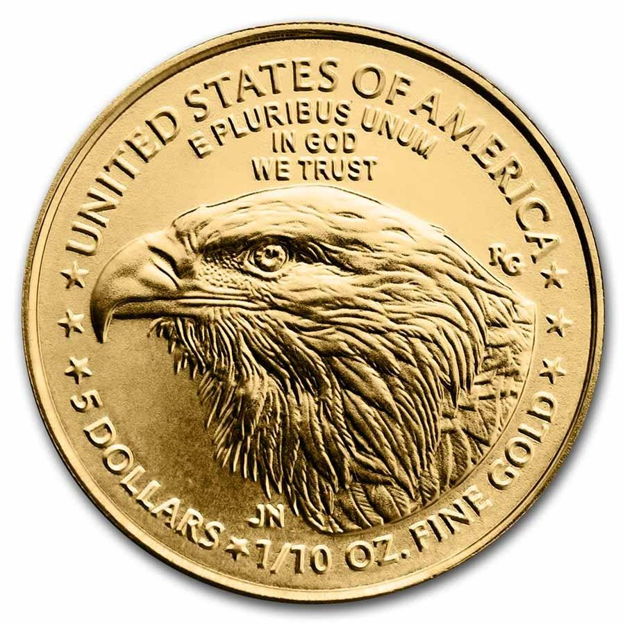 2021 $5 GOLD American Eagle Coin 1/10th Ounce TYPE 2