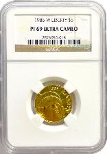 1986-W Gold $5 Commem Statue of Liberty PROOF in NGC PF 69 UCAM