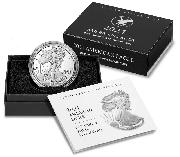 2021 Silver Eagle PROOF In Box with COA (Type 2, new design) 2021-W American Silver Eagle Dollar Proof