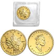 1999 Canada 1/10 oz Gold Maple Leaf BU with 20 Years ANS Privy Sealed In Mint Packaging